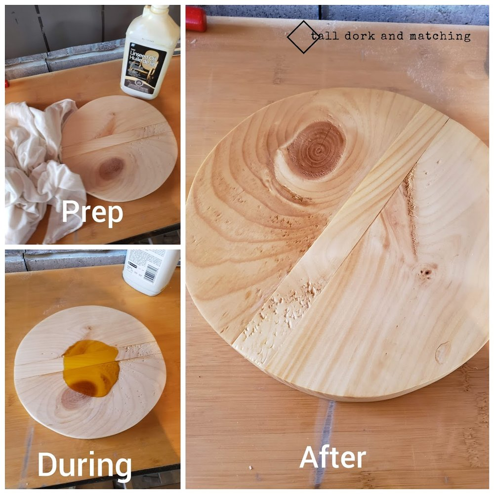 Linseed oil application