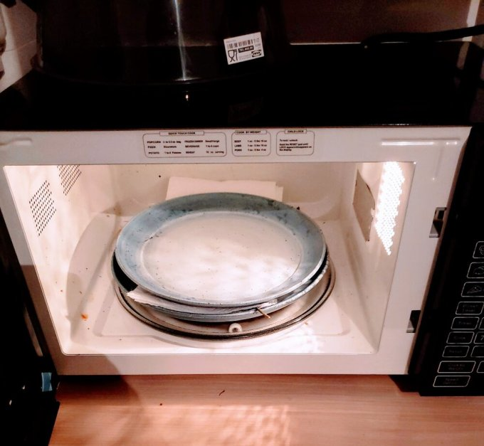 Not happy I forgot to clean the microwave before I took this pic! haha